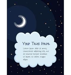 Starry night cartoon background vector