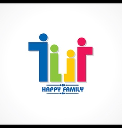 Stylish Happy Family Greeting stock vector