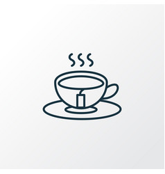 Tea icon line symbol premium quality isolated vector
