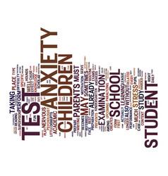 Test anxiety a silent epidemic among children vector