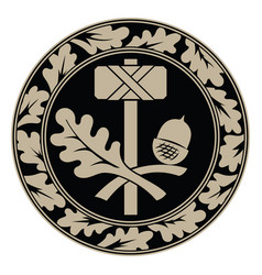 thors hammer - mjolnir and scandinavian oak vector image