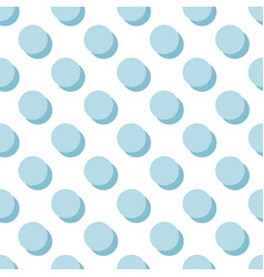 Tile pattern with blue polka dots on white vector