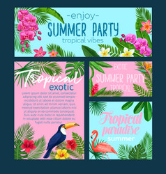 Tropical banners vector