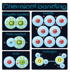 Types of chemical bonding vector