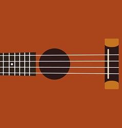 Ukulele background flat design vector