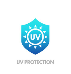 Uv protection icon vector