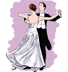 Waltzing couple vector