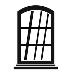 White narrow window icon simple vector