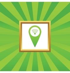 Wi-Fi pointer picture icon vector