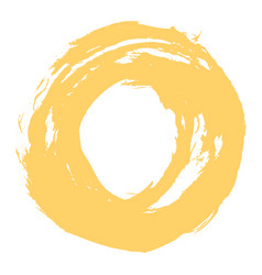 Yellow brushstroke circle form vector