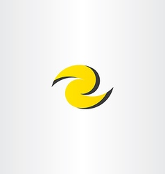 z letter yellow logo z icon element vector image