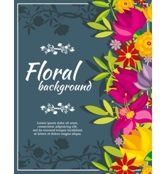Abstract spring background with flowers vector image vector image