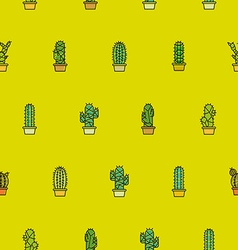 Cactus seamless pattern background vector