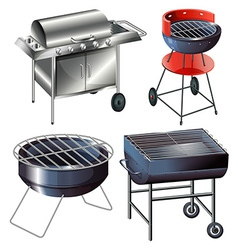 Grilling sets vector image