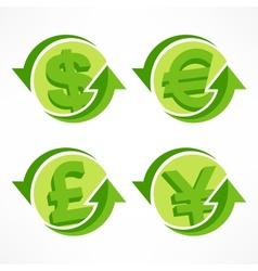 Money symbol on white vector image vector image