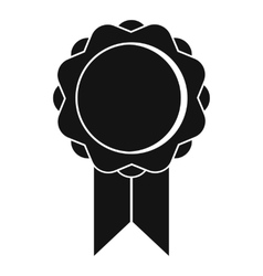 Rosette with ribbon icon simple style vector image vector image