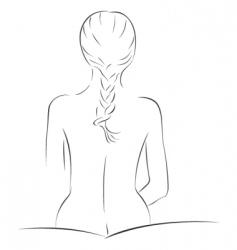 sensual sketch vector image vector image