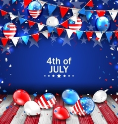 Colorful Template for American Independence Day vector image