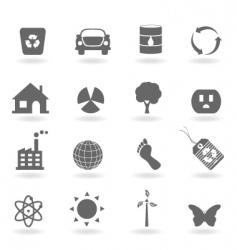 ecofriendly icons vector image vector image