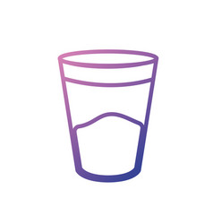 line water glass to drink and fresh beverage vector image vector image
