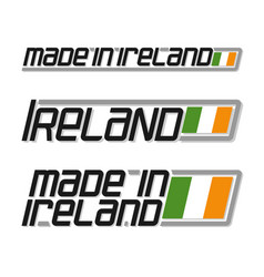 made in ireland vector image vector image