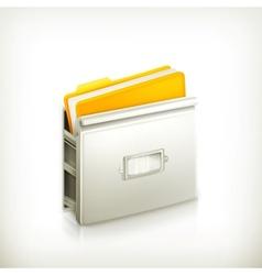Open card catalog icon vector image