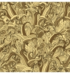 Ornamental colored seamless floral pattern with vector image vector image