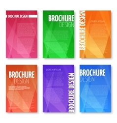 Brochures and UI templates set with vector image vector image