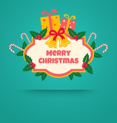 christmas banner with bells vector image vector image