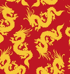 Dragons pattern chinese motifs vector image vector image