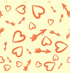 love concept heart and arrows seamless tile vector image vector image