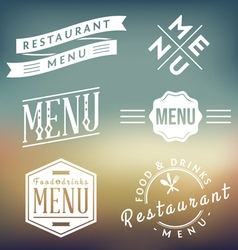 Menu Labels vector image