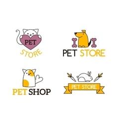 Pet shop symbols set vector image