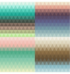 Set of seamless triangle backgrounds vector image