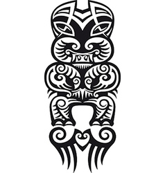 Taniwha tattoo design vector image