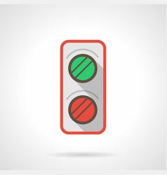 Railroad traffic light flat color icon vector