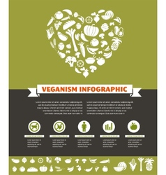 vegetarian and vegan healthy organic infographic vector image