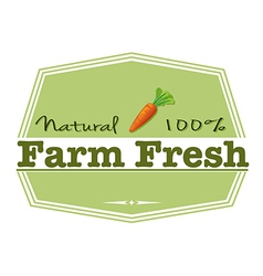 A natural farm fresh label vector