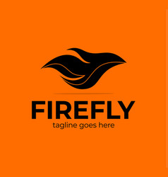 abstract colorful ornate fly flame wave logo vector image