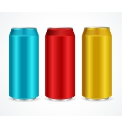 Aluminum Colorful Cans vector