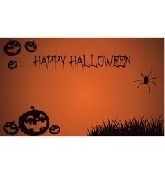 Backgrounds Halloween pumpkins and spider vector image