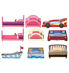 Beds vector image