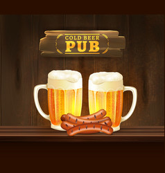 Beer pub vector
