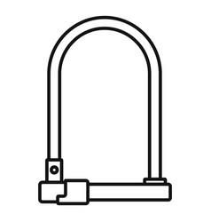 Bike locker icon outline style vector