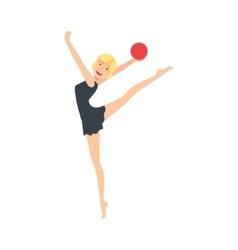 Blond Professional Rhythmic Gymnastics Sportswoman vector image