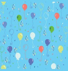 bright party balloons pattern vector image