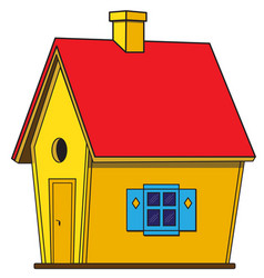 bright toy house vector image