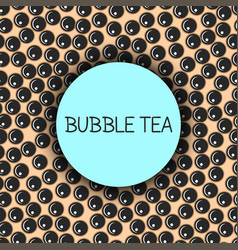 bubble milk tea seamless pattern with blue round vector image