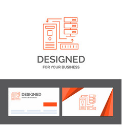 business logo template for combination data vector image