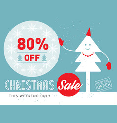 christmas sale this weekend only special offer vector image